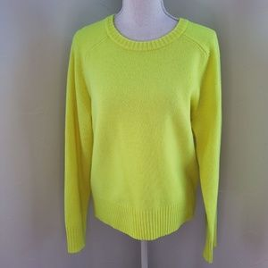 J Crew Neon Yellow Sweater L